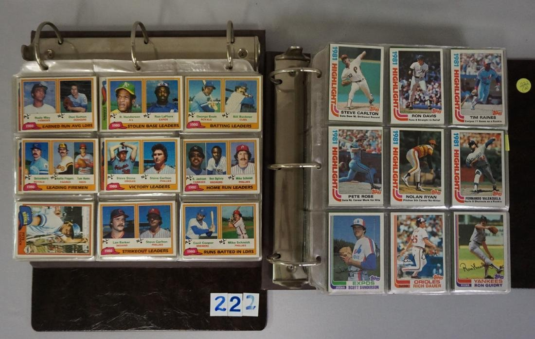 1981 & 1982 TOPPS BASEBALL CARD SETS
