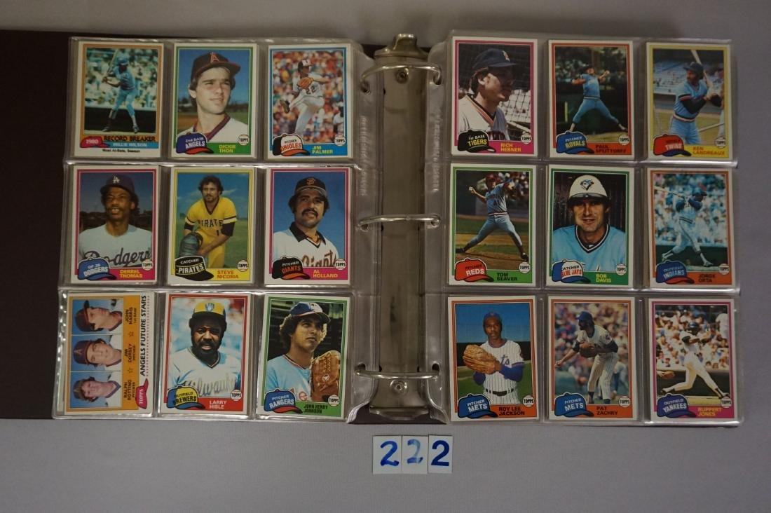 1981 & 1982 TOPPS BASEBALL CARD SETS - 2