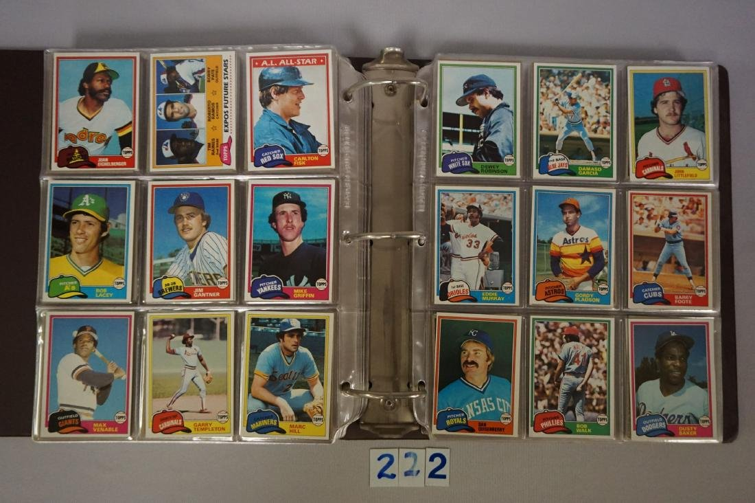 1981 & 1982 TOPPS BASEBALL CARD SETS - 3