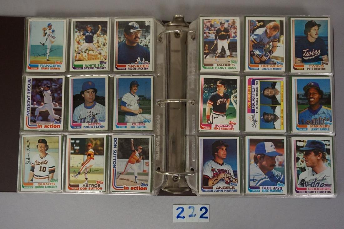 1981 & 1982 TOPPS BASEBALL CARD SETS - 7