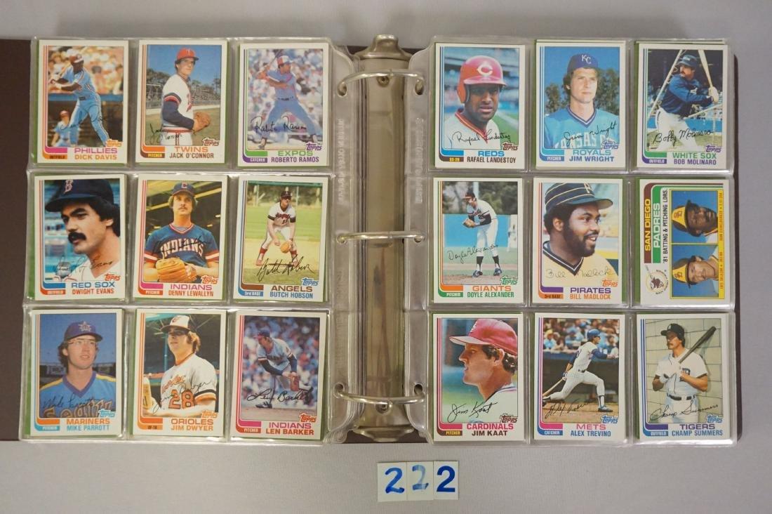 1981 & 1982 TOPPS BASEBALL CARD SETS - 8