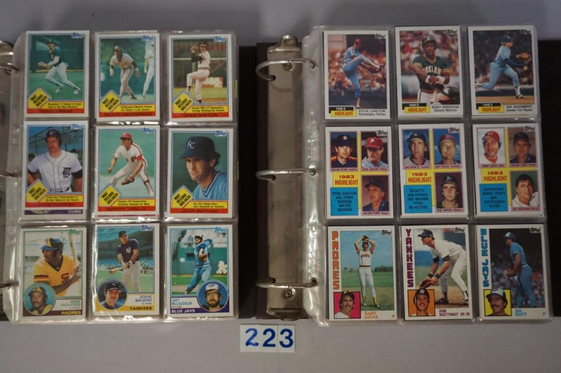 1983 & 1984 TOPPS BASEBALL CARD SETS
