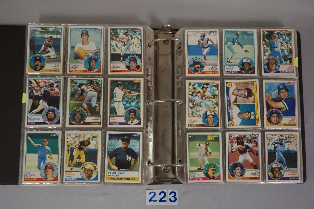 1983 & 1984 TOPPS BASEBALL CARD SETS - 3