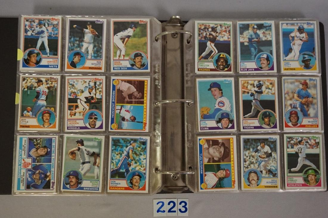 1983 & 1984 TOPPS BASEBALL CARD SETS - 4