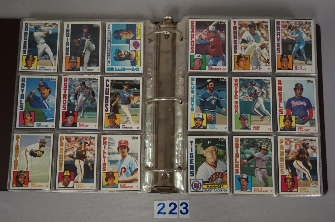 1983 & 1984 TOPPS BASEBALL CARD SETS - 6