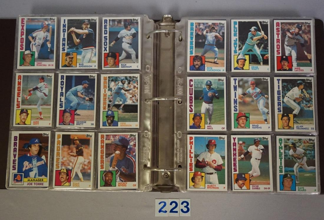 1983 & 1984 TOPPS BASEBALL CARD SETS - 7