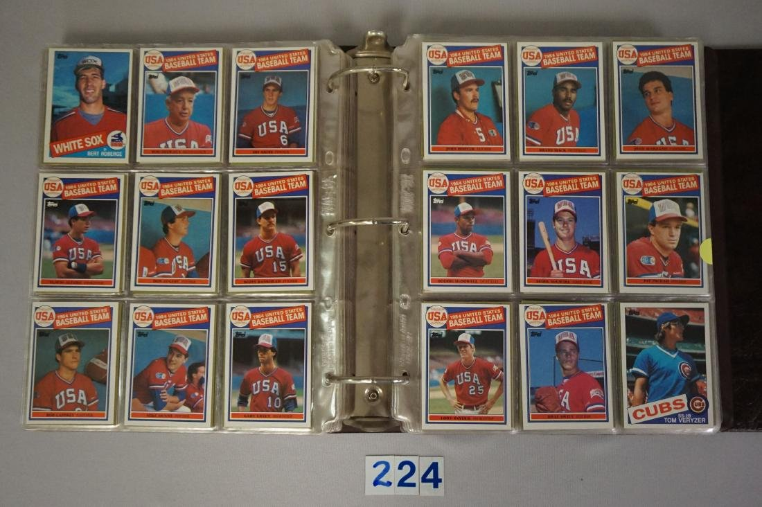 1985 & 1986 TOPPS BASEBALL CARD SETS - 2