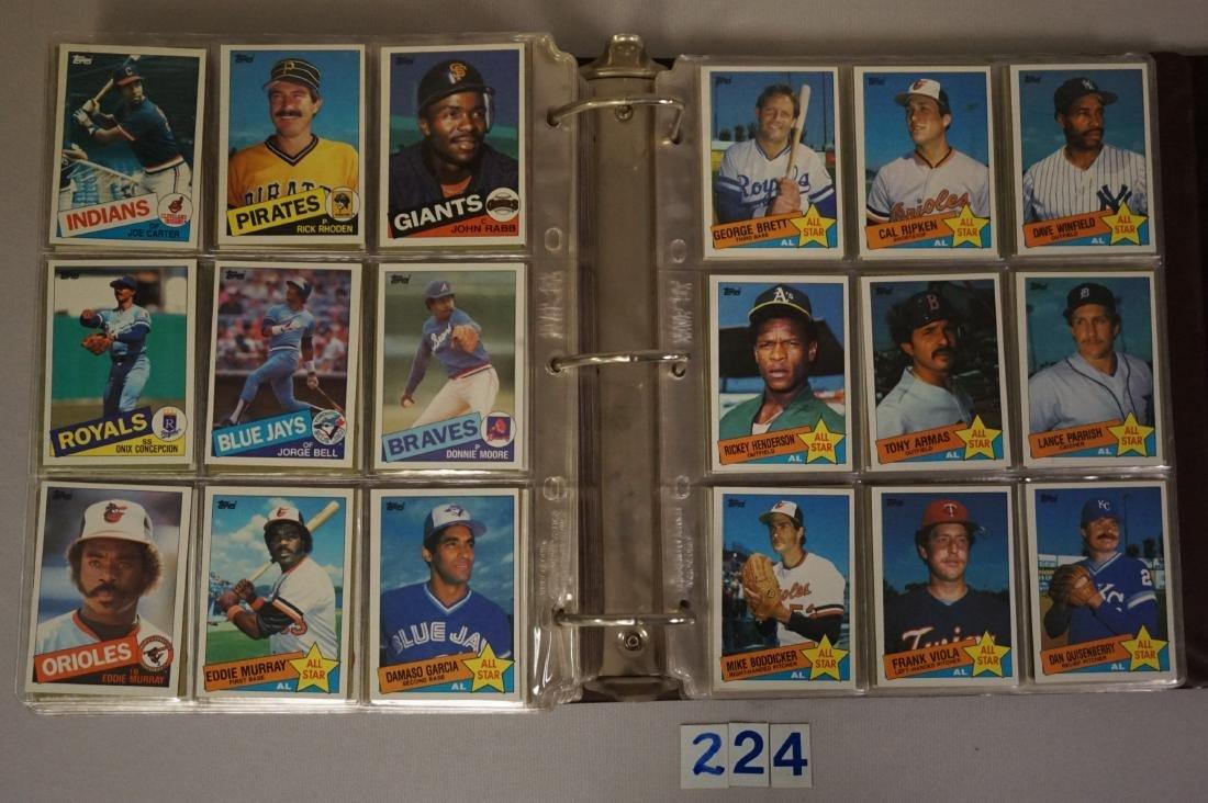 1985 & 1986 TOPPS BASEBALL CARD SETS - 4