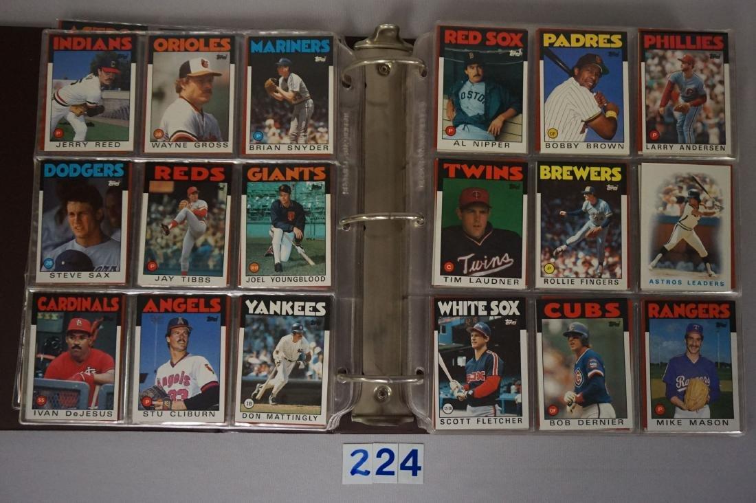 1985 & 1986 TOPPS BASEBALL CARD SETS - 5