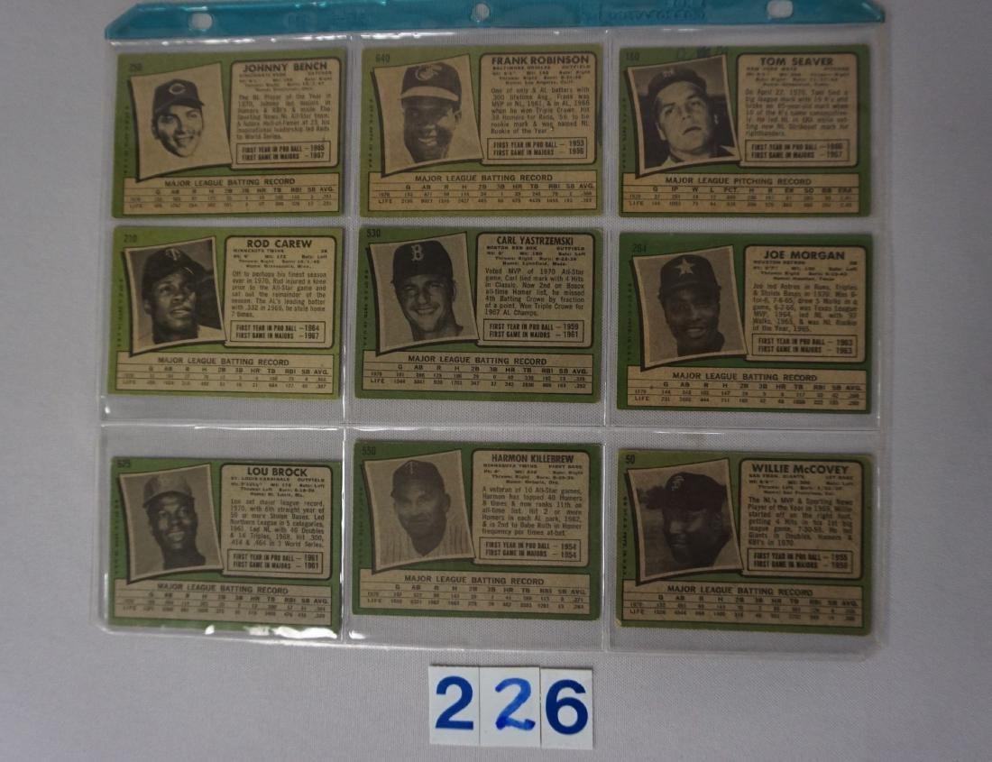 (23 DIFF.) 1971 TOPPS BASEBALL STARS - 3