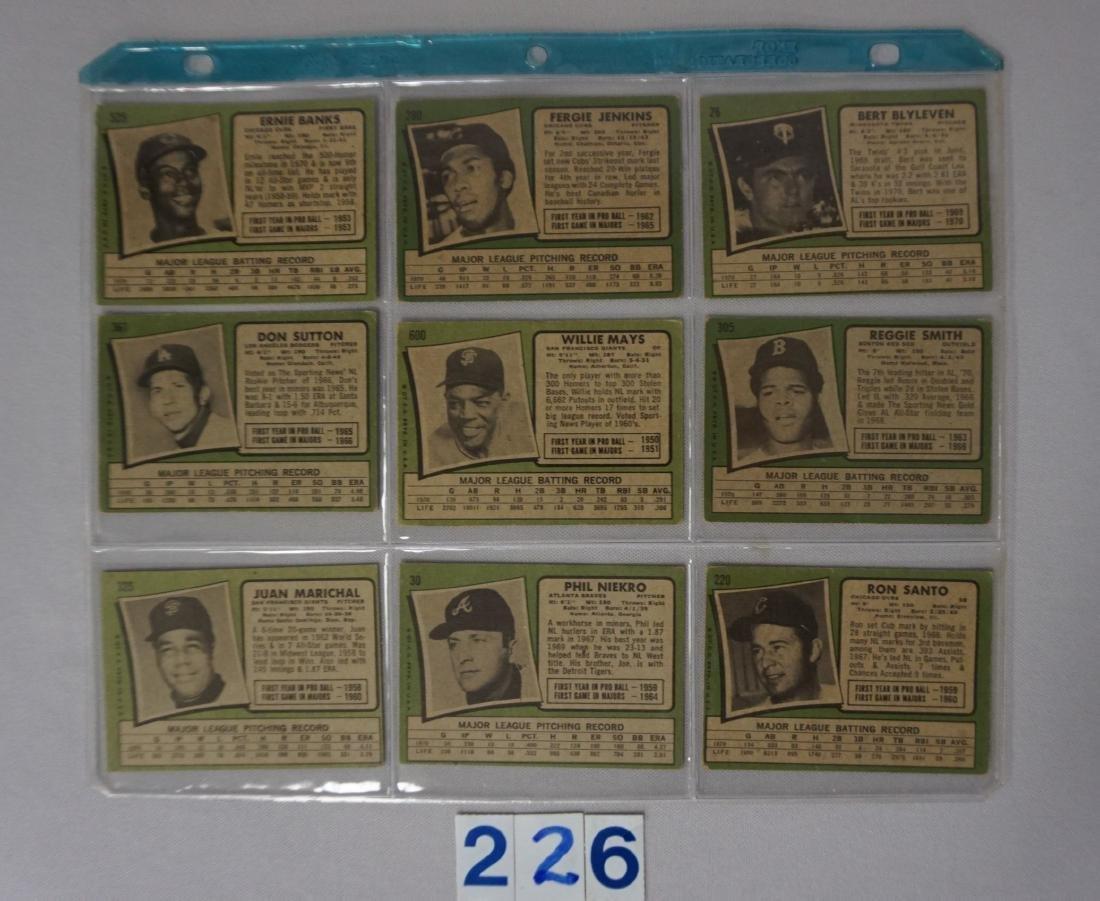 (23 DIFF.) 1971 TOPPS BASEBALL STARS - 5