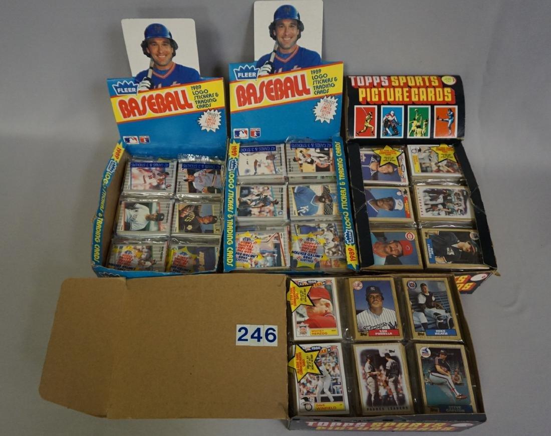 (2) 1987 TOPPS BASEBALL PACK RACK BOXES,