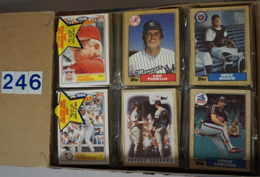 (2) 1987 TOPPS BASEBALL PACK RACK BOXES, - 2