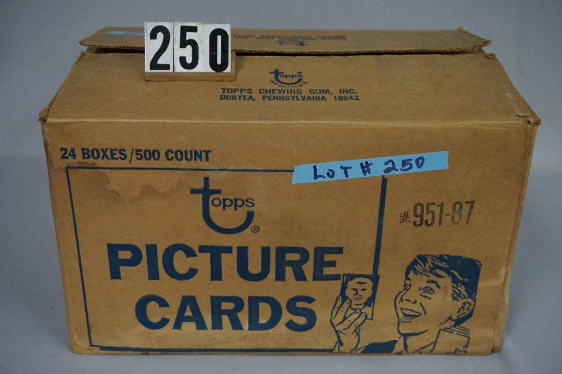 CASE OF 1987 TOPPS BASEBALL VENDOR BOXES