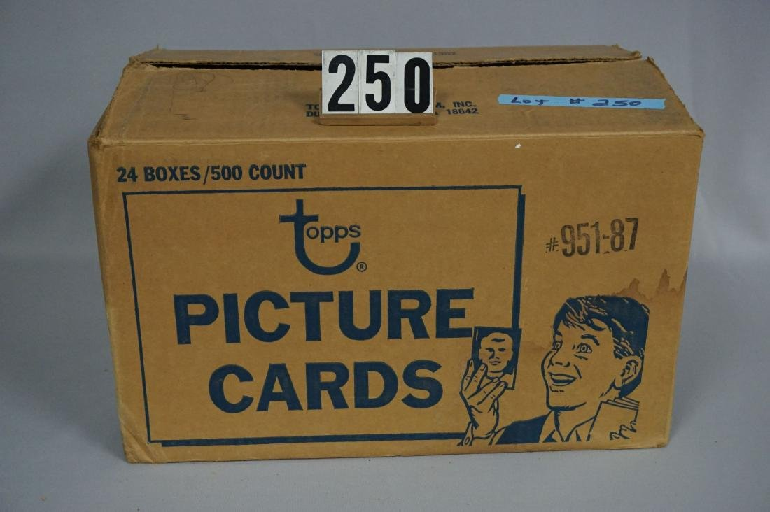 CASE OF 1987 TOPPS BASEBALL VENDOR BOXES - 4