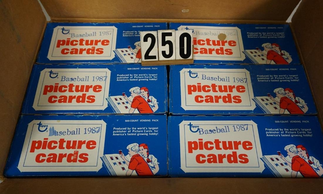 CASE OF 1987 TOPPS BASEBALL VENDOR BOXES - 5