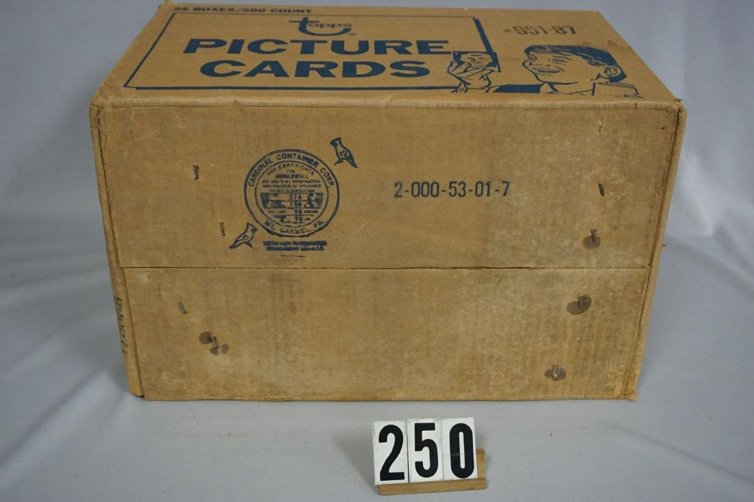 CASE OF 1987 TOPPS BASEBALL VENDOR BOXES - 7