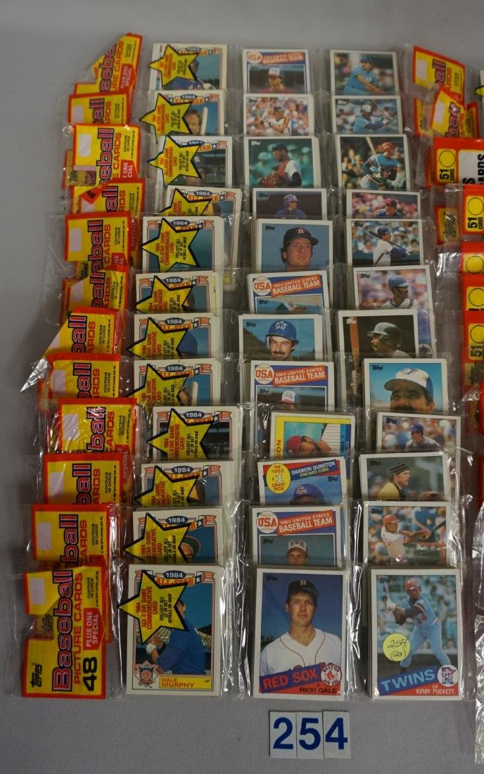 UNOPENED TOPPS BASEBALL RACK PACKS: - 2