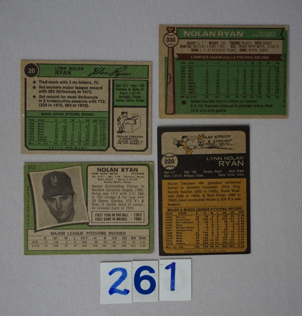 NOLAN RYAN: 1971 #513 (CR), '73 #220, - 2