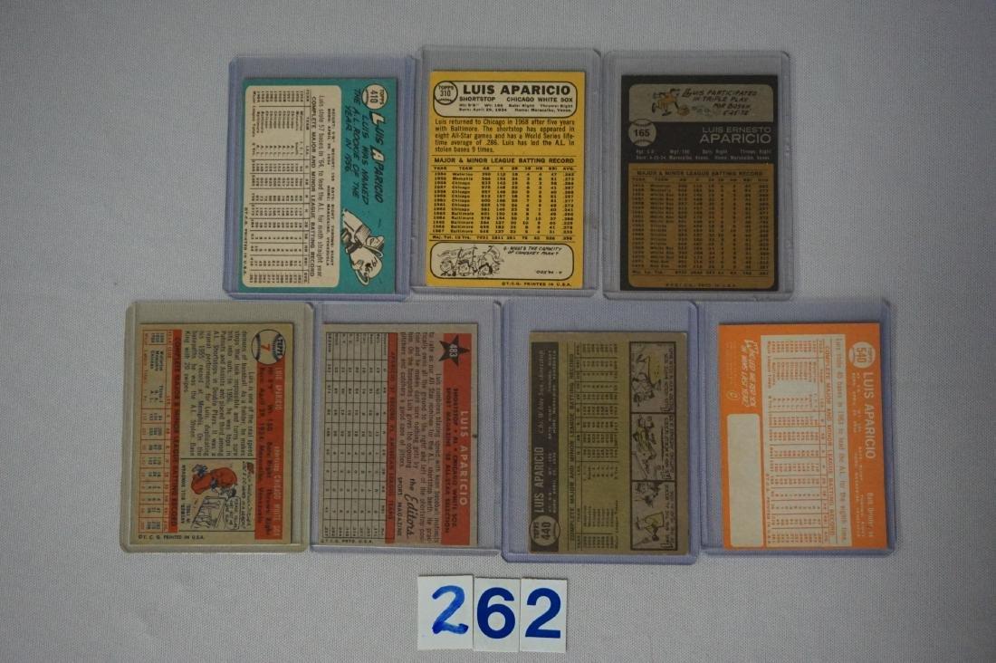 LUIS APARICIO (7 DIFF. CARDS): - 2