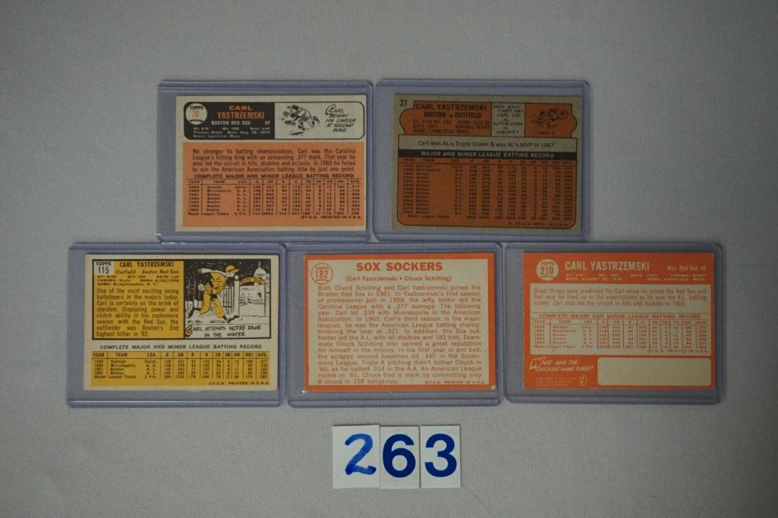 C. YASTRZEMSKI (5 DIFF.) CARDS: - 2