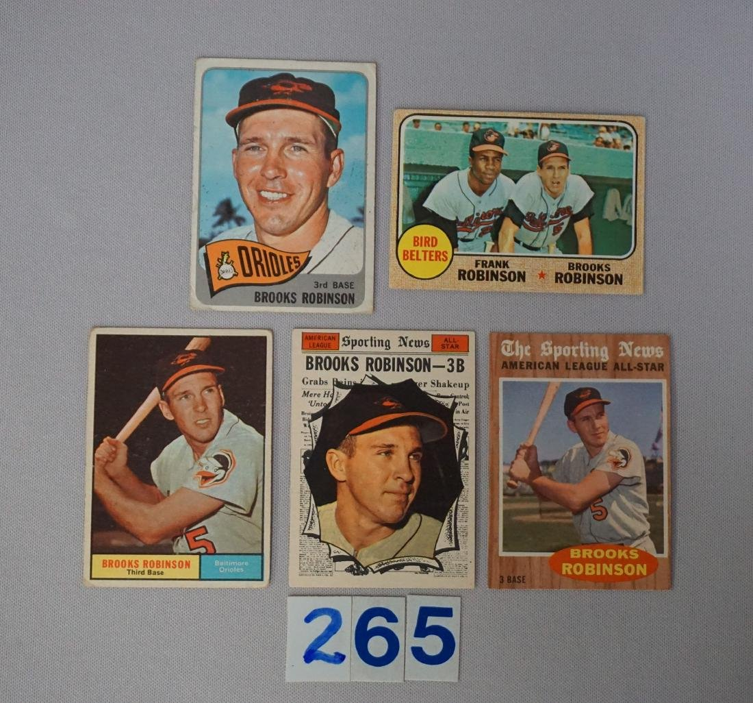 BROOKS ROBINSON (5 DIFF.) CARDS: