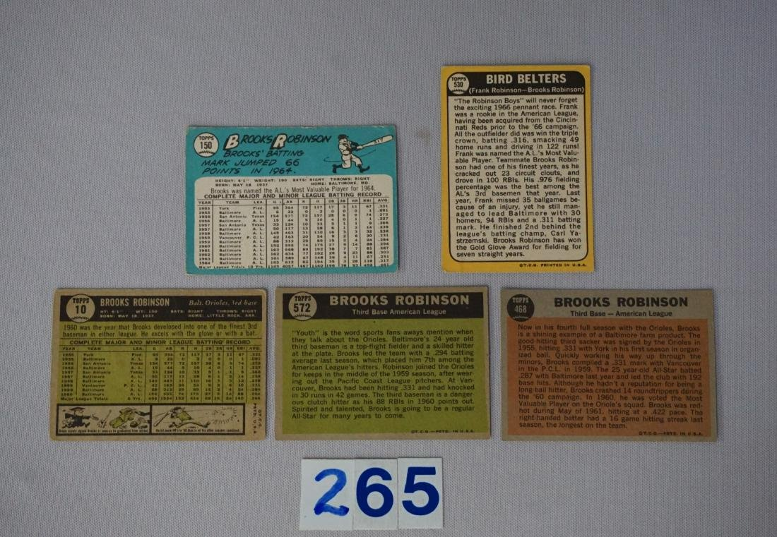 BROOKS ROBINSON (5 DIFF.) CARDS: - 2