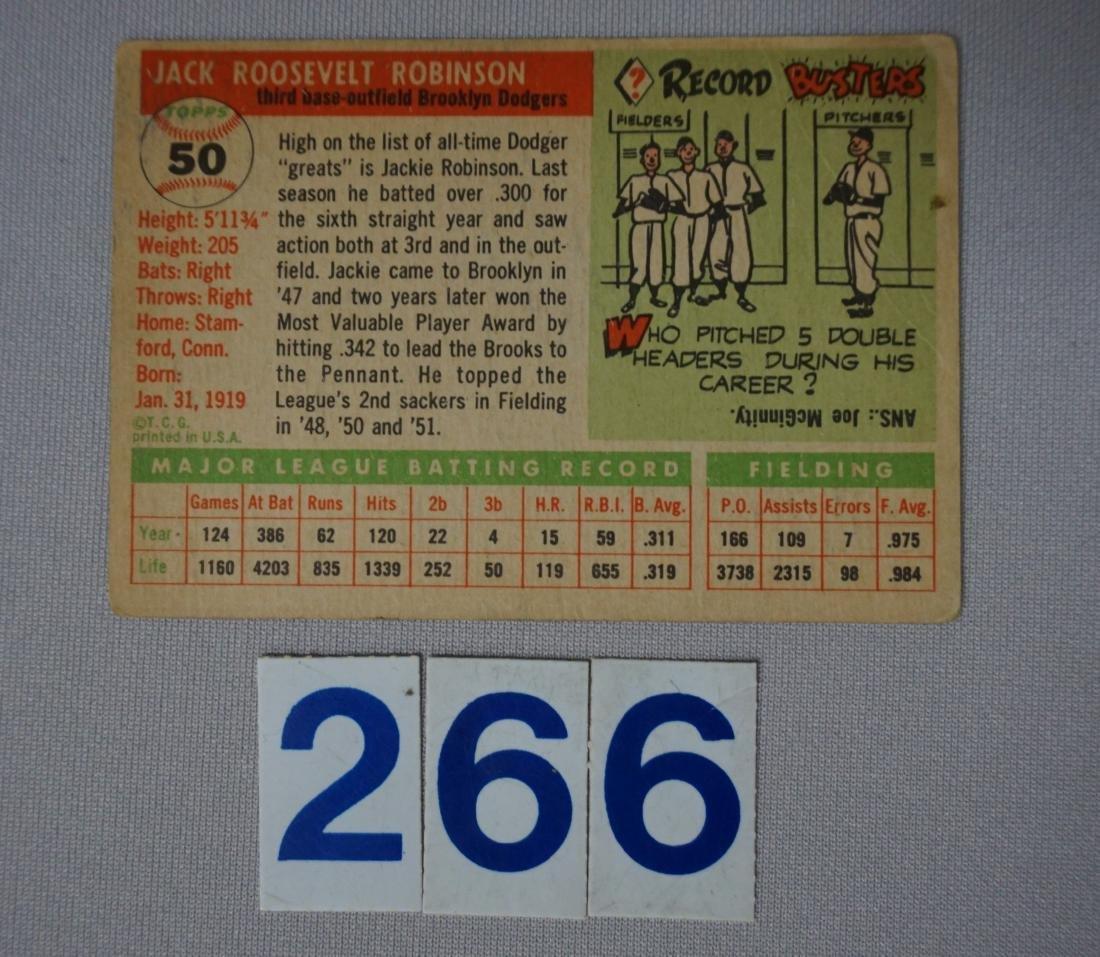 1955 TOPPS #50 JACKIE ROBINSON, - 2