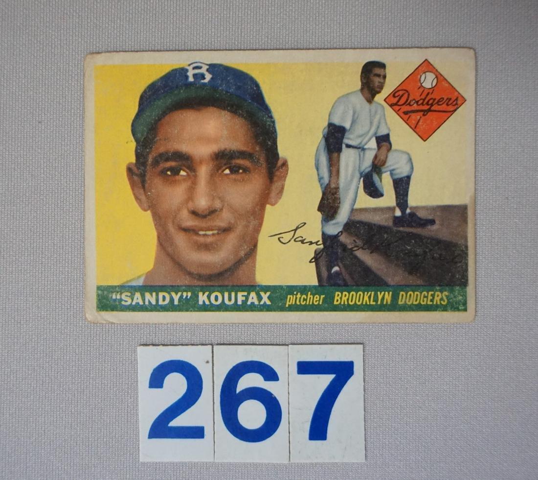 1955 TOPPS #123 SANDY KOUFAX (R),