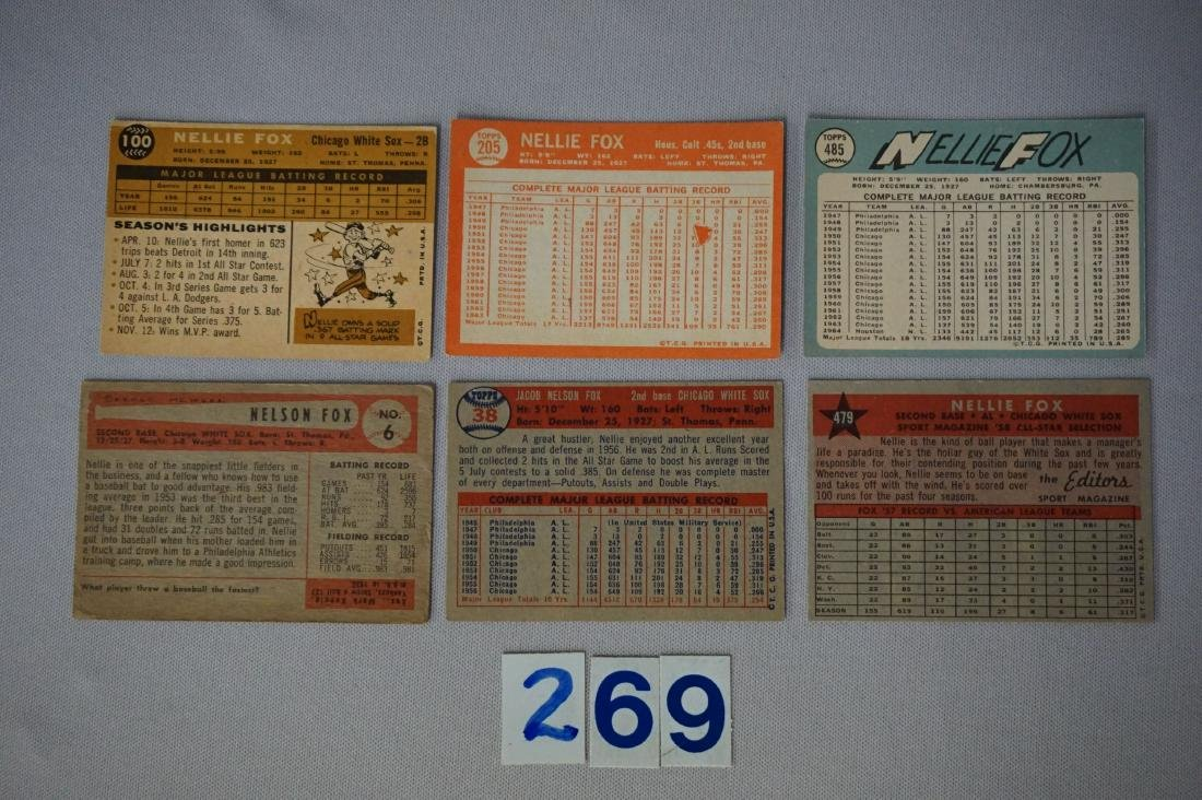 NELLIE FOX (6 DIFF.) CARDS: - 2
