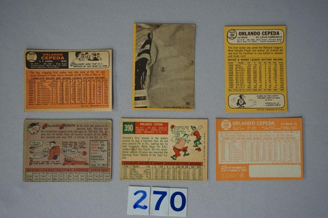ORLANDO CEPEDA (6 DIFF. CARDS): - 2