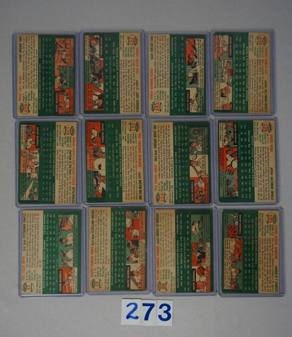 (12) 1954 TOPPS BASEBALL CARDS: - 2