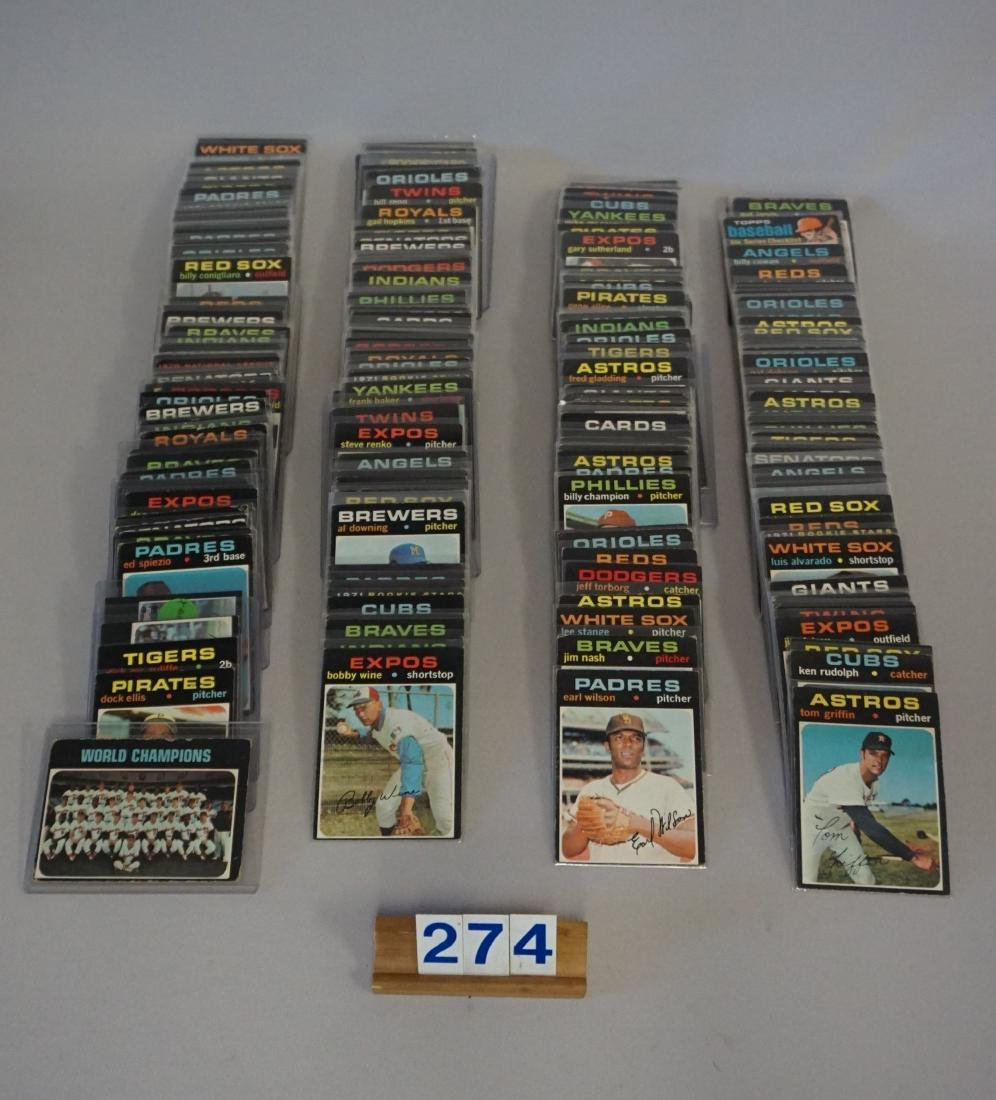 (309 DIFF.) 1971 TOPPS BASEBALL CARDS #1-738,