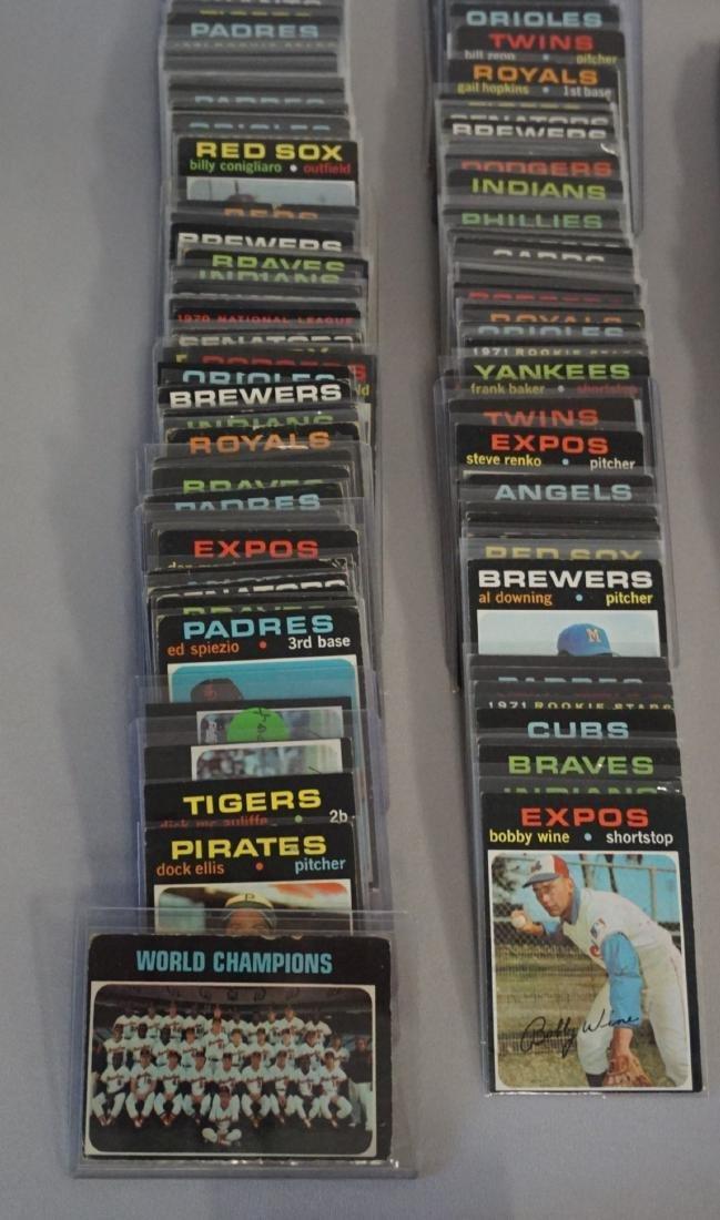 (309 DIFF.) 1971 TOPPS BASEBALL CARDS #1-738, - 2