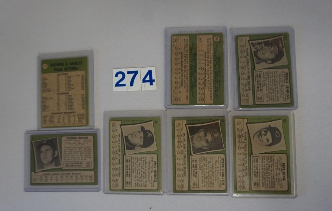 (309 DIFF.) 1971 TOPPS BASEBALL CARDS #1-738, - 5