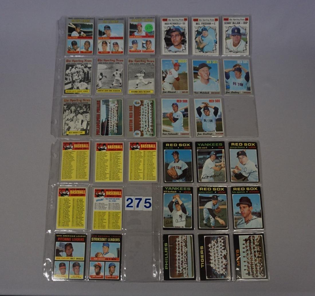 (22) 1970 & (11) 1971 TOPPS BASEBALL CARDS