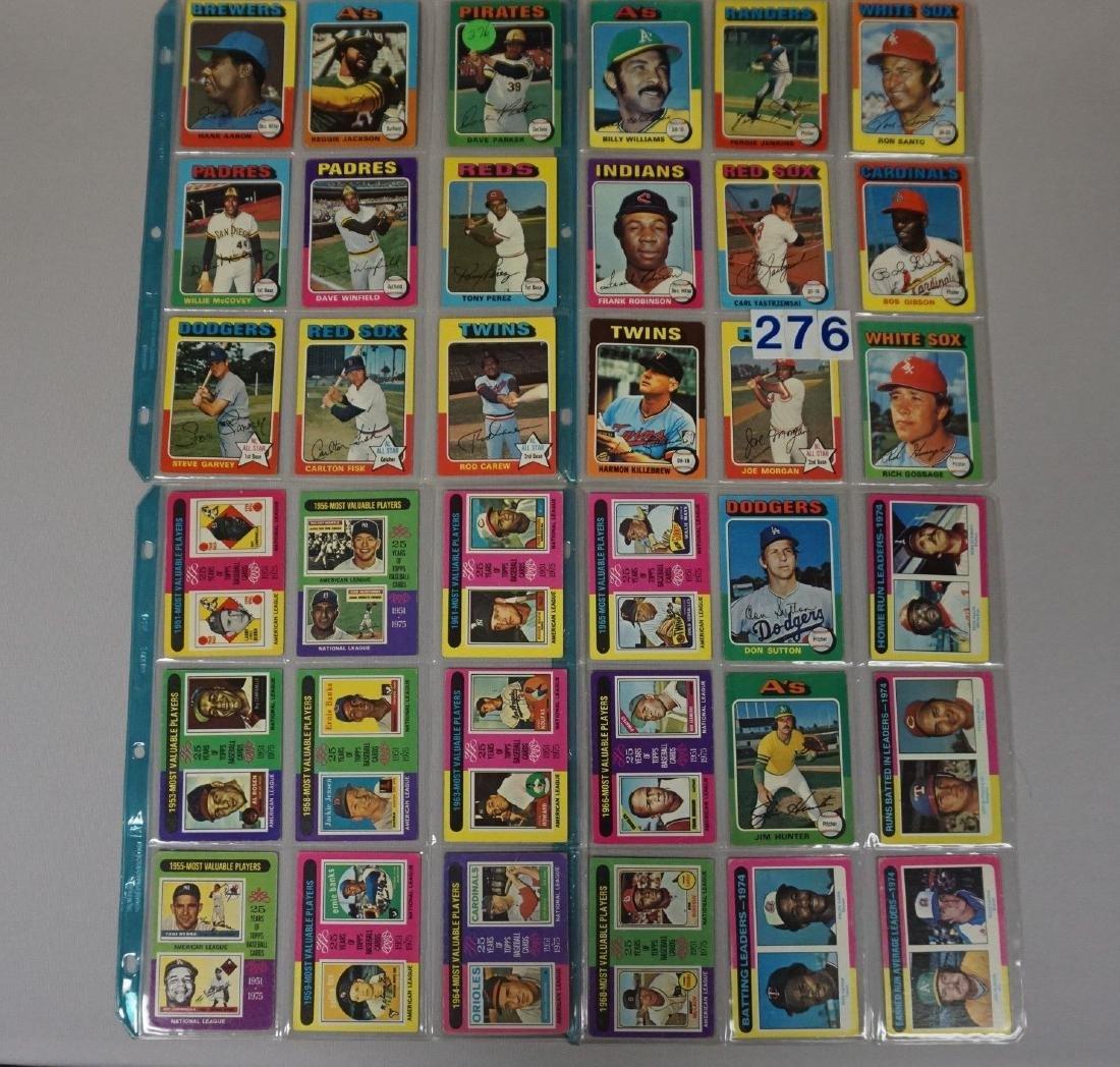 (36 DIFF.) 1975 TOPPS BASEBALL CARDS
