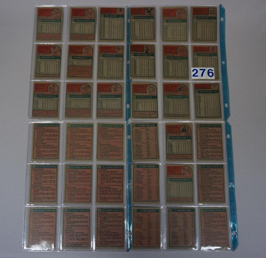 (36 DIFF.) 1975 TOPPS BASEBALL CARDS - 2