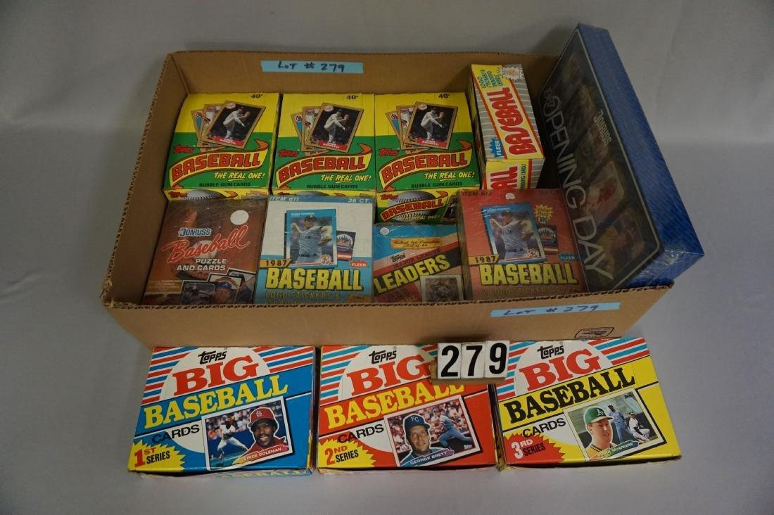 LOT: (3) 1987 TOPPS BASEBALL WAX BOXES,