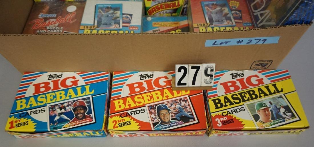 LOT: (3) 1987 TOPPS BASEBALL WAX BOXES, - 2