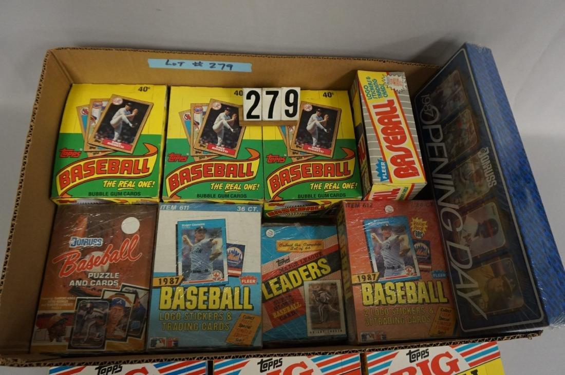 LOT: (3) 1987 TOPPS BASEBALL WAX BOXES, - 3