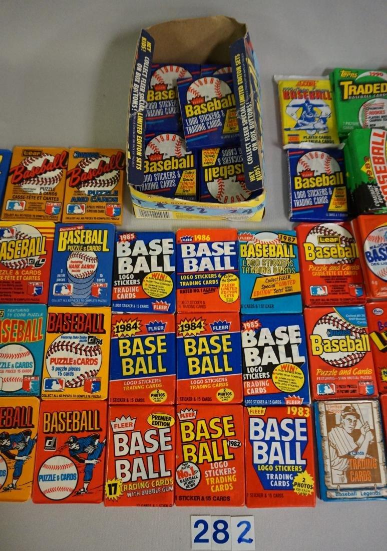 LOT OF BASEBALL CARD WAX PACKS: - 3