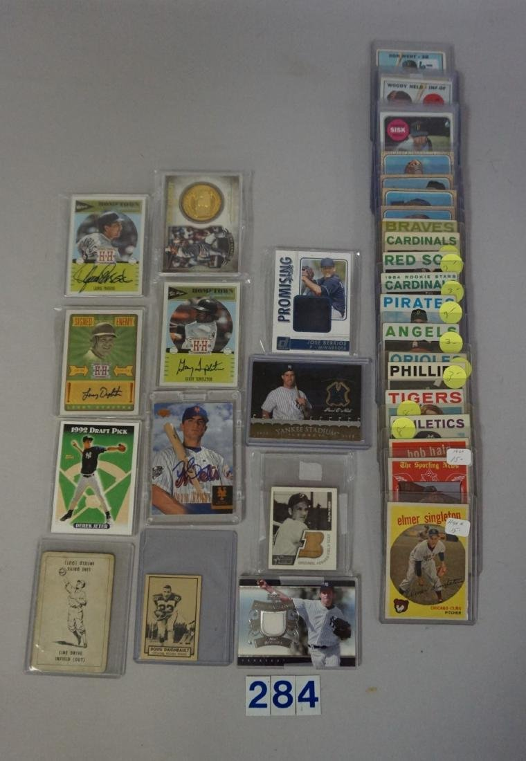 TWO-ROW BOX WITH AUTOGRAPHED CARDS - 2