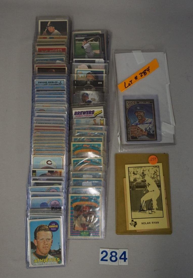 TWO-ROW BOX WITH AUTOGRAPHED CARDS - 3