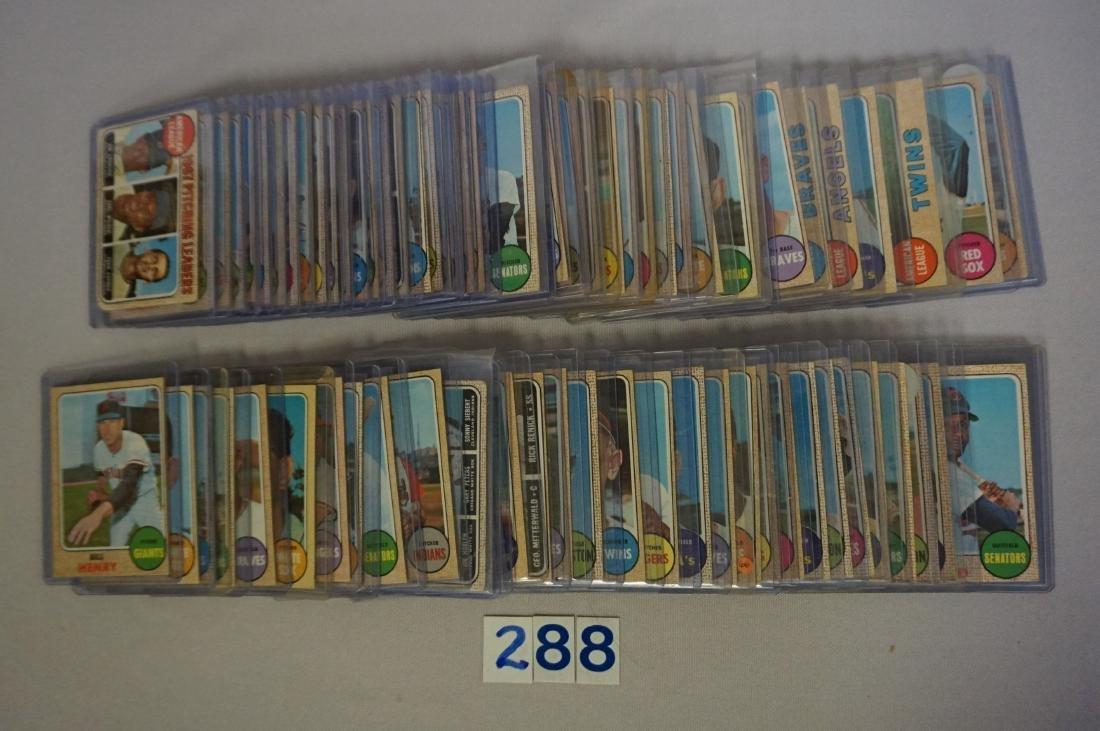 (123) 1968 TOPPS BASEBALL CARDS - 3