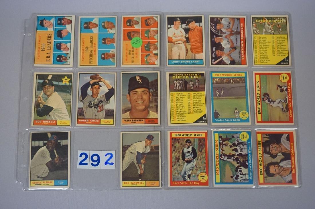 (17 DIFF.) 1961 TOPPS BASEBALL CARDS