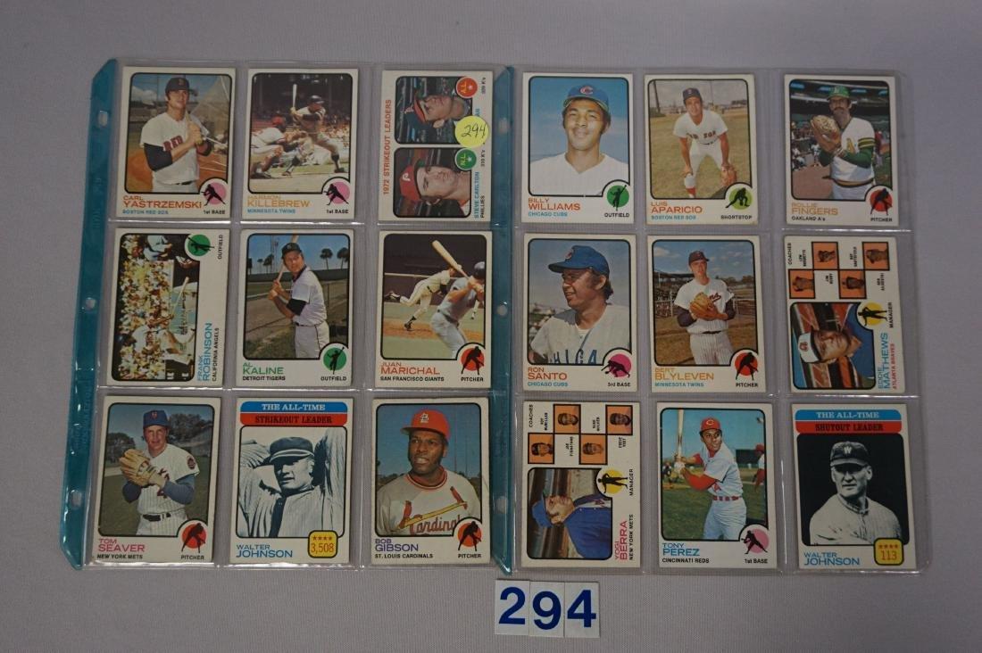 (36 DIFF.)  1973 TOPPS BASEBALL CARDS