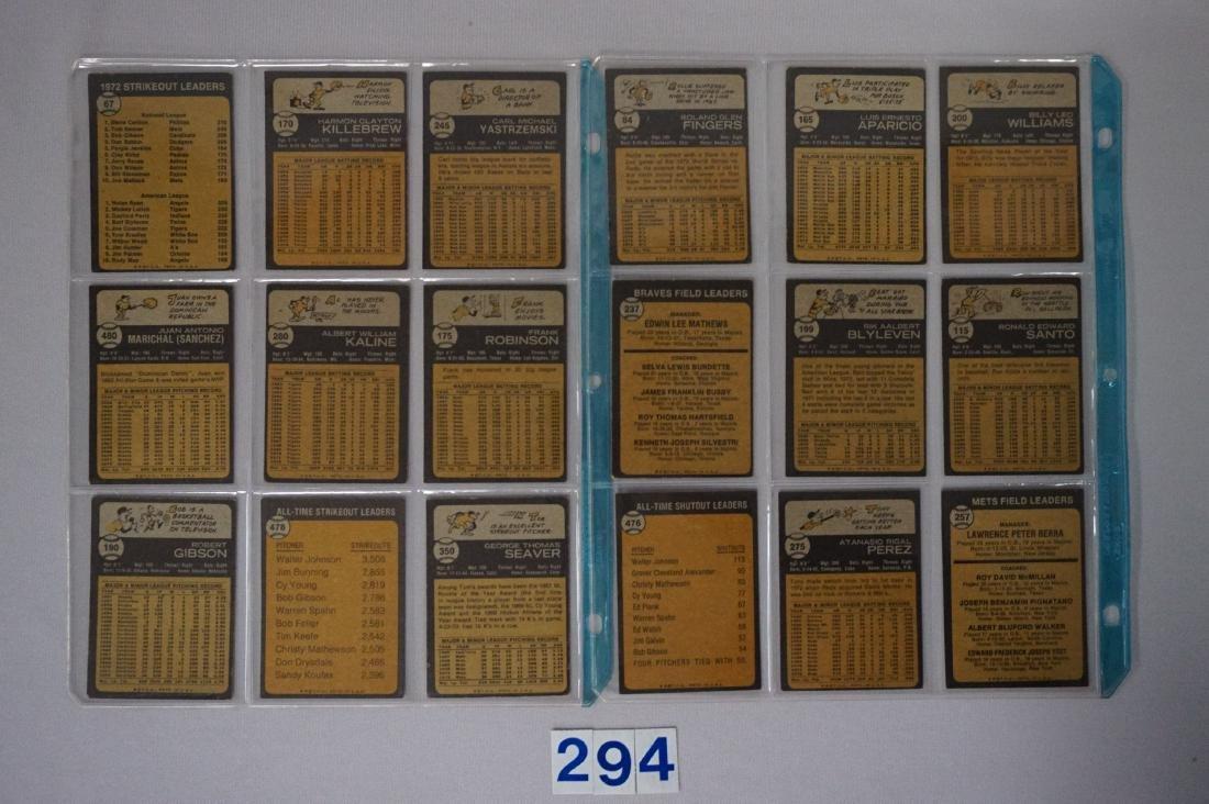 (36 DIFF.)  1973 TOPPS BASEBALL CARDS - 2