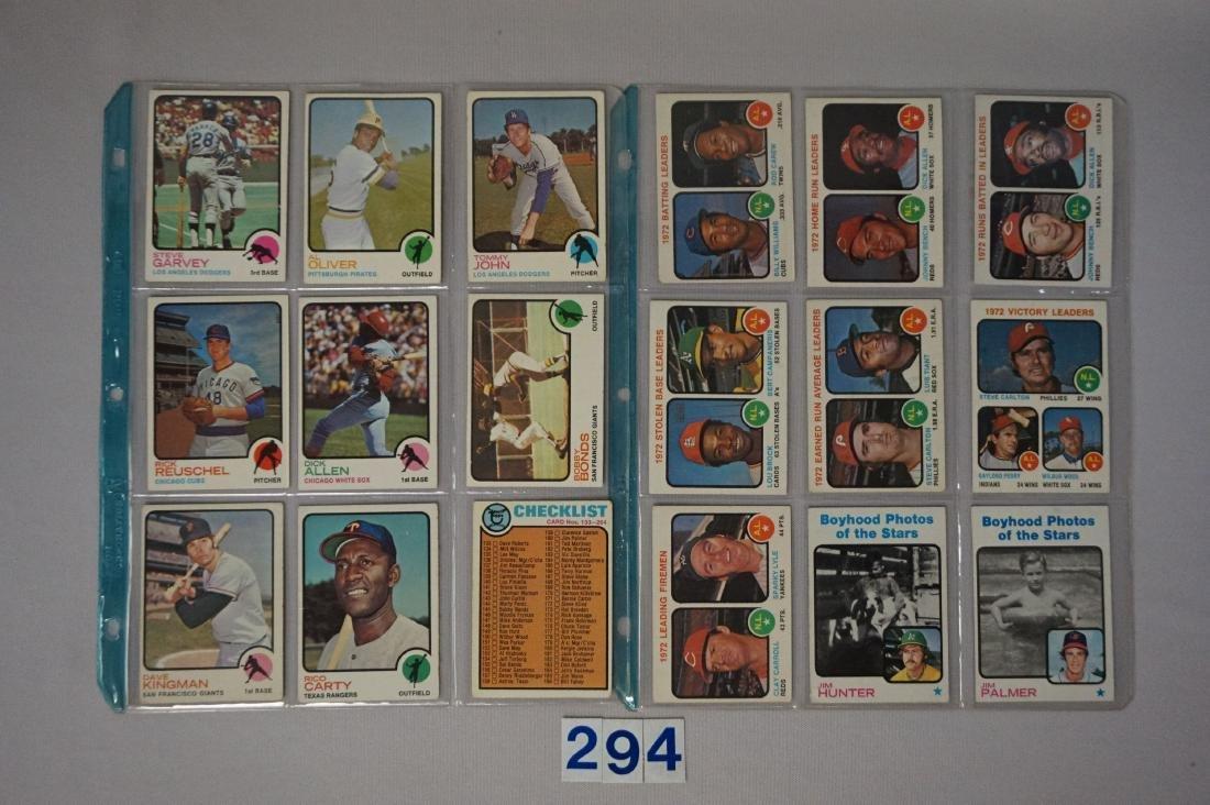 (36 DIFF.)  1973 TOPPS BASEBALL CARDS - 3