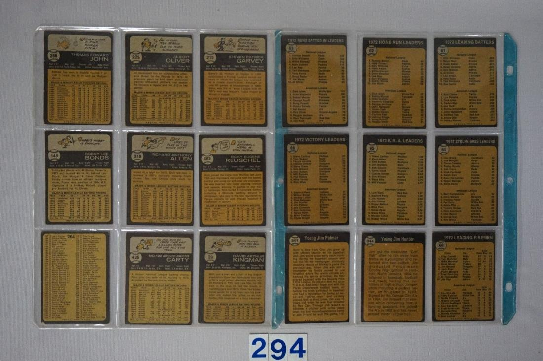 (36 DIFF.)  1973 TOPPS BASEBALL CARDS - 4